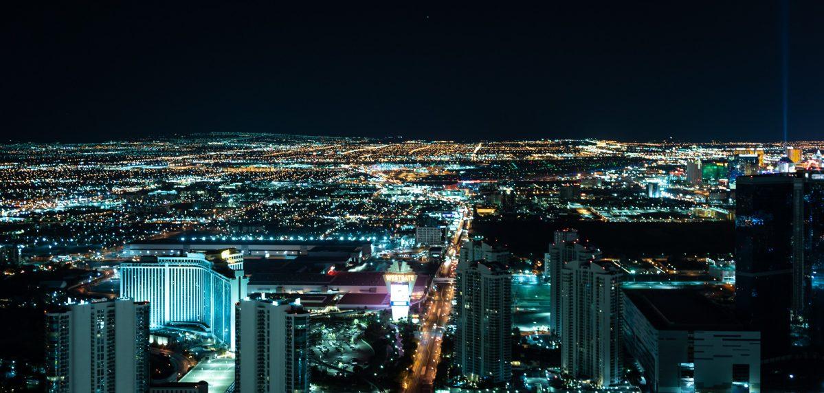 Panorama Las Vegas z wieży Stratosphere, Las Vegas, Nevada, USA
