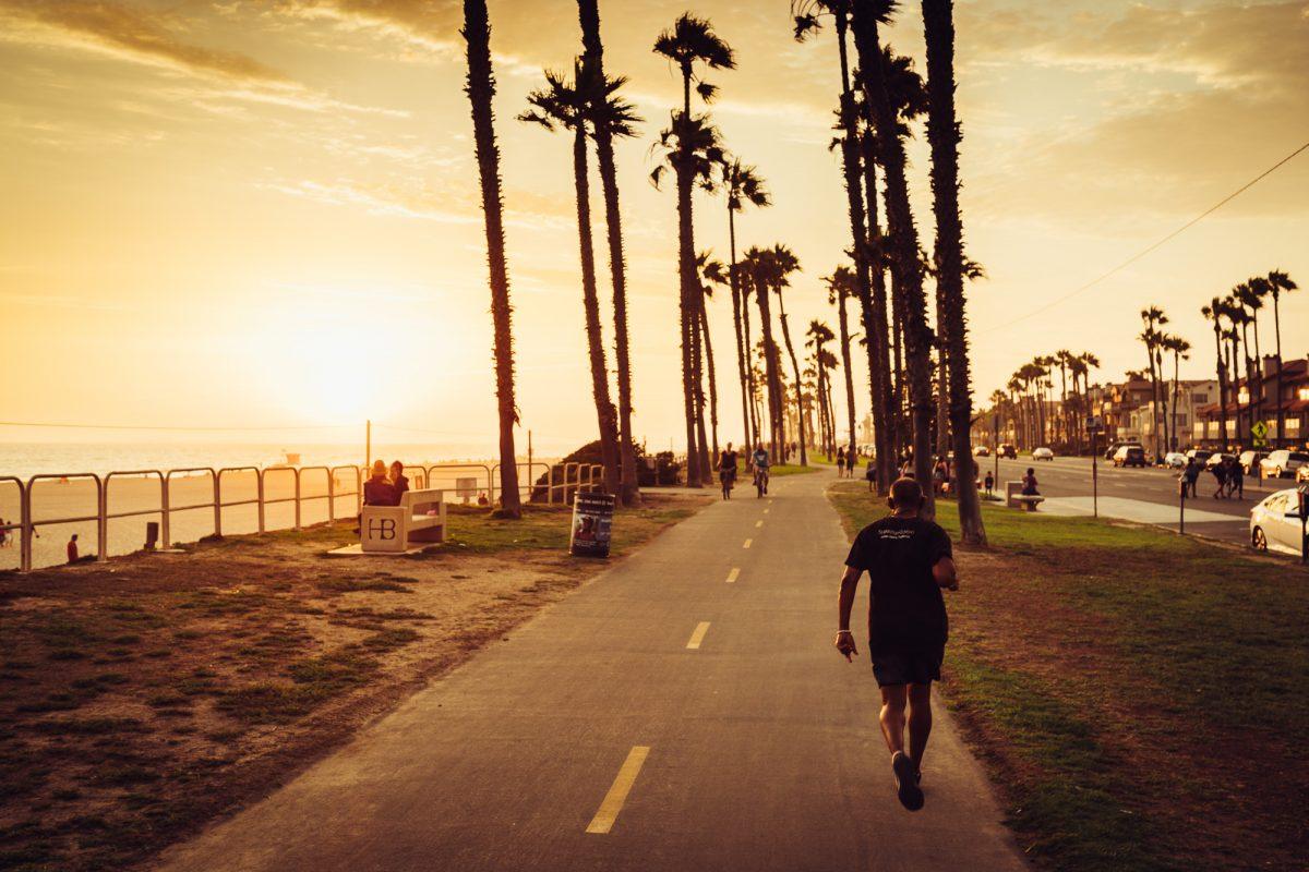 Promenada w Los Angeles, Kalifornia, USA.