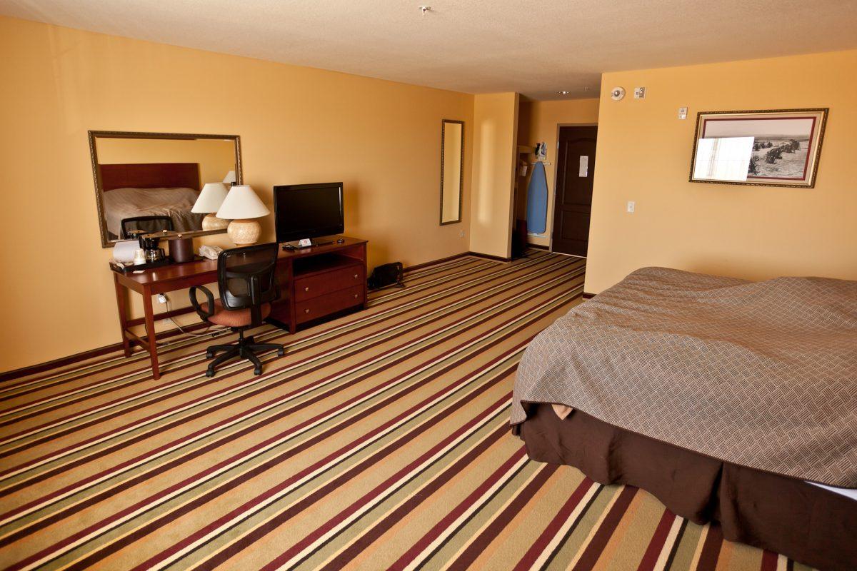 W Tuba City, miasteczku w pobliżu Grand Canyon, dostałem naprawdę duży pokój!
