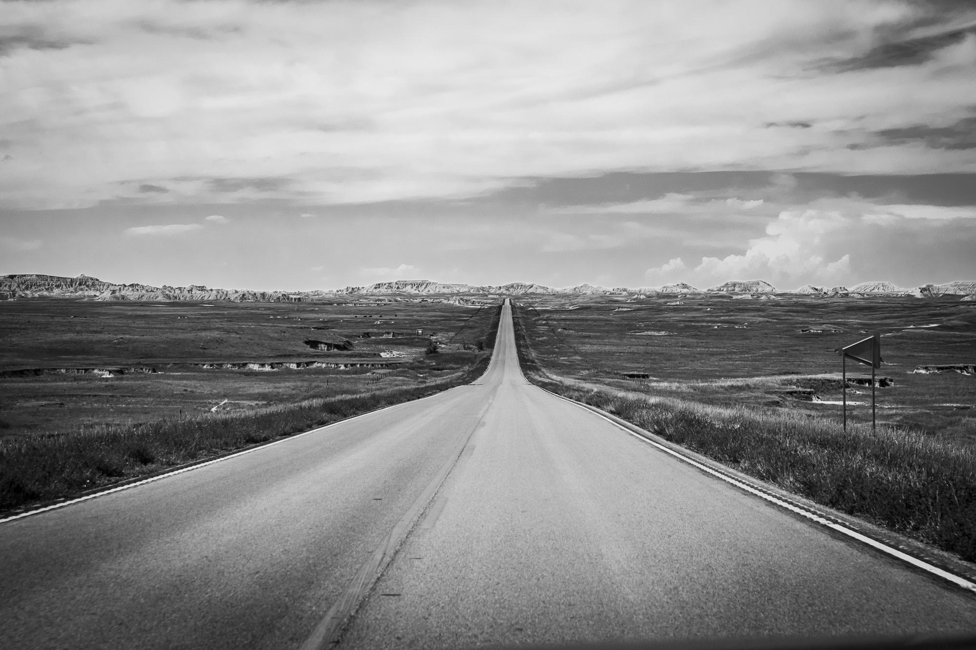 Zbliżam się do Badlands, Dakota Południowa